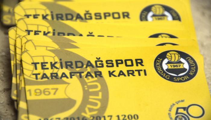 Süleymanpaşa Belediyesinden Tekirdağspor'a kombine desteği