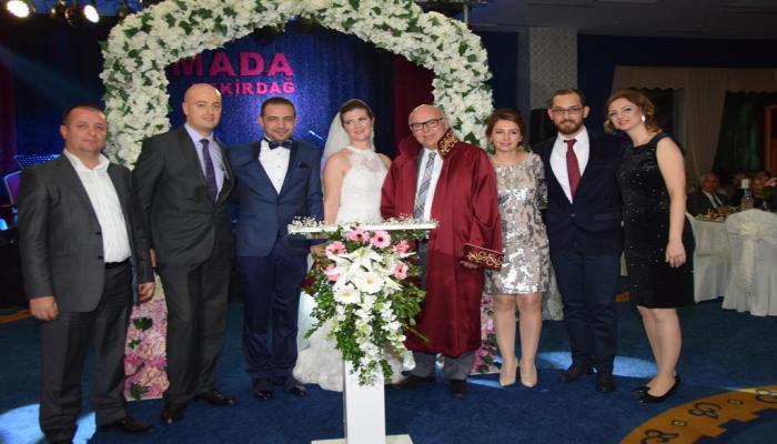 Başkan Eşkinat Kabaş ve Aktuna ailelerinin mutluluğuna ortak oldu