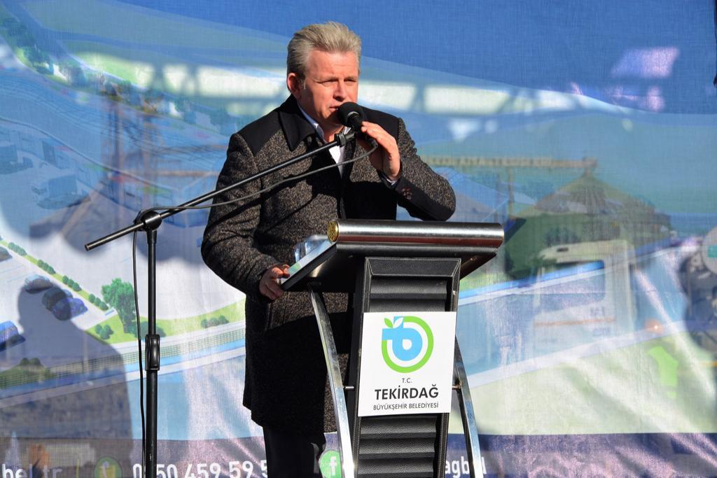 Başkan Eşkinat Süleymanpaşa Meyve Sebze Hali temel atma törenine katıldı
