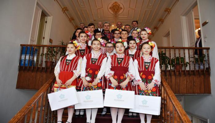 Bulgaristan'daki kardeş şehrimiz Pomorie de Süleymanpaşa Çocuk Şenliğinde