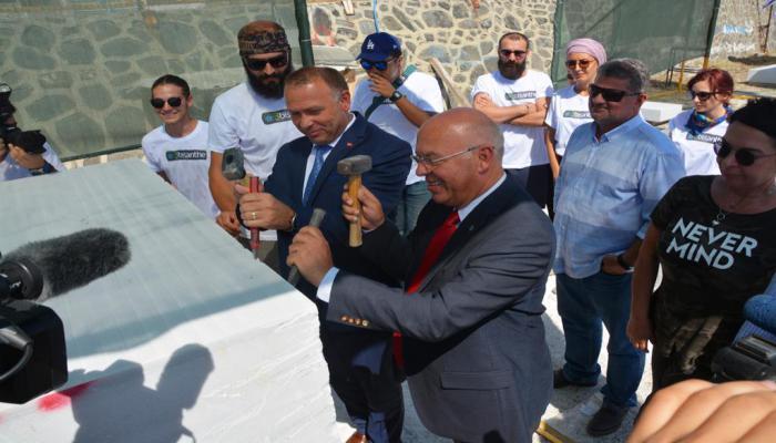 3. Uluslararası Bisanthe Taş Heykel Sempozyumu ilk çekicin vurulmasıyla başladı