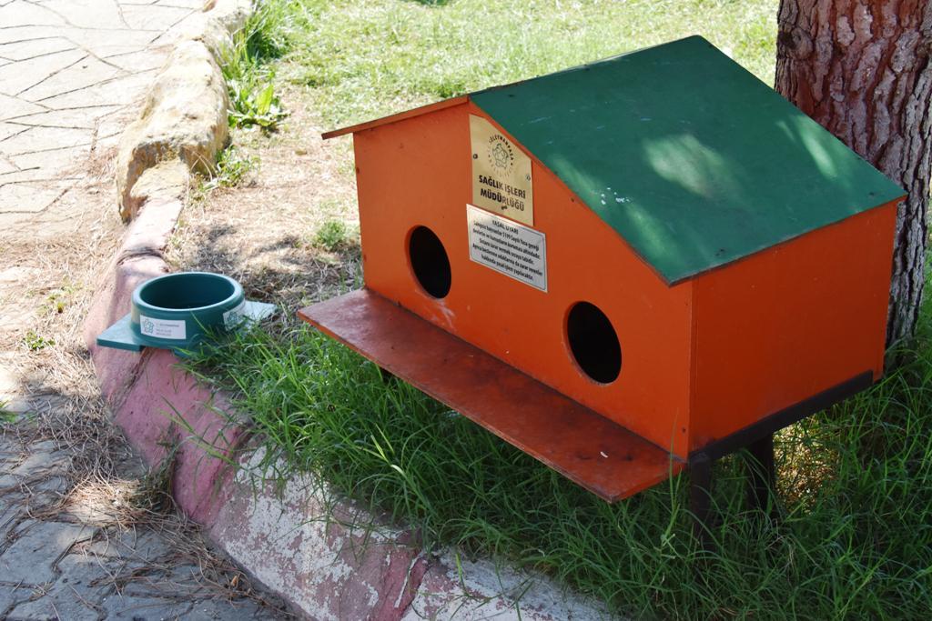 Yeni kedi evleri minik dostlarımızın hizmetinde...