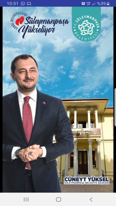 Süleymanpaşa Belediyesi mobil uygulaması ile de vatandaşın yanında