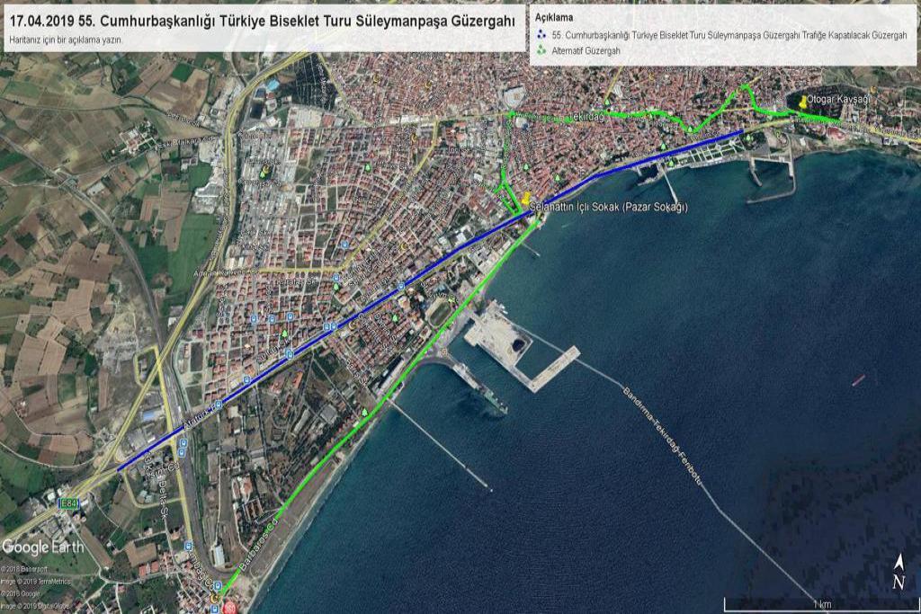 Cumhurbaşkanlığı bisiklet turu 16-17 Nisan'da Süleymanpaşa'da