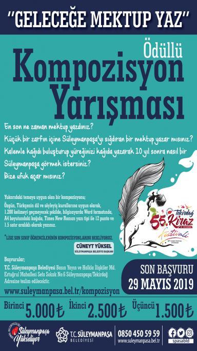 Süleymanpaşa Belediyesi'nden ödüllü kompozisyon yarışması