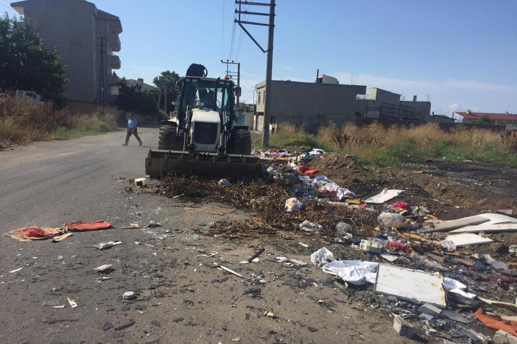 Süleymanpaşa Belediyesi 13 Kasım Okulu çevresinde çalışma gerçekleştirdi