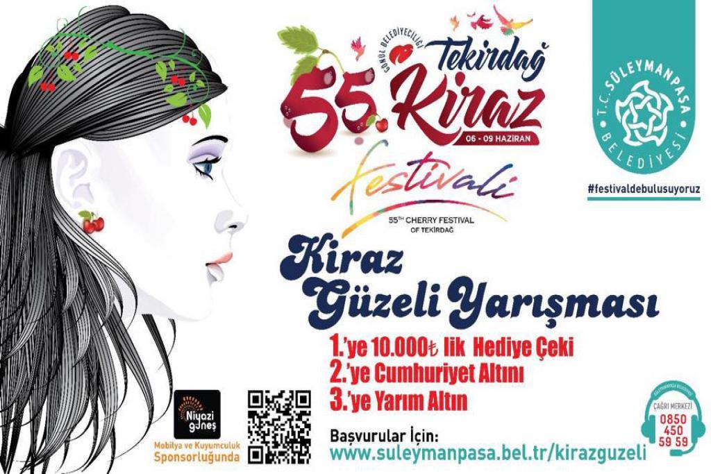 Tekirdağ'ın en güzel kızı Kiraz Festivali'nde seçilecek