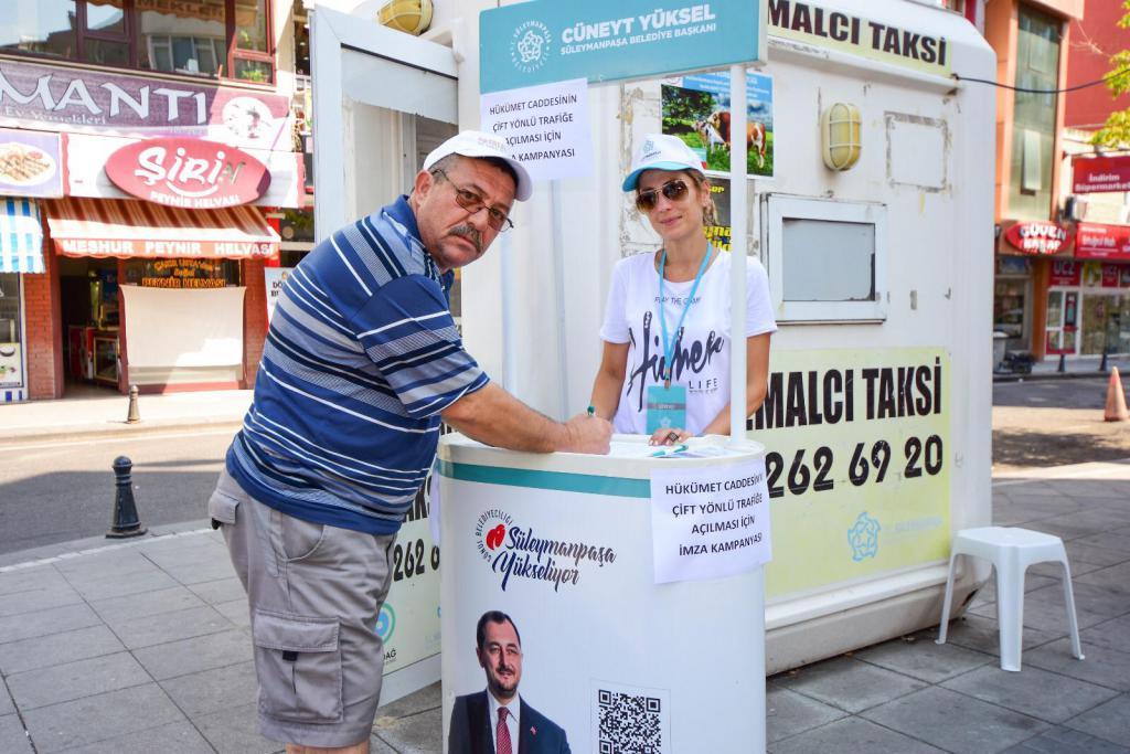 Başkan Yüksel'den hükümet caddesi hamlesi... Süleymanpaşa Belediyesi çift yön için imza kampanyası başlattı.