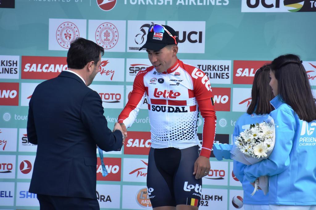 55. Cumhurbaşkanlığı Bisiklet Turunun ilk etabı Süleymanpaşa'da tamamlandı
