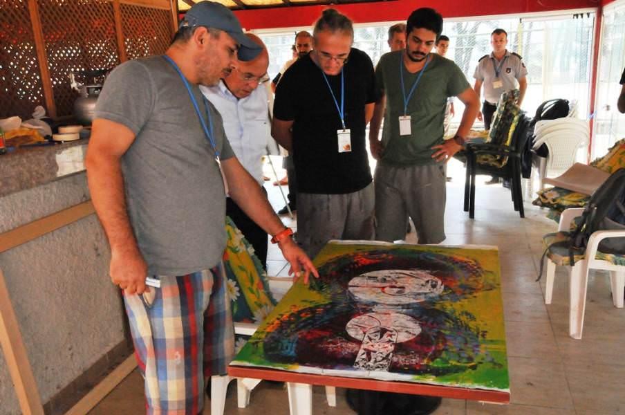 """Başkan Eşkinat """"14 Ressam 14 Süleymanpaşa"""" projesi çalışmalarını inceledi"""