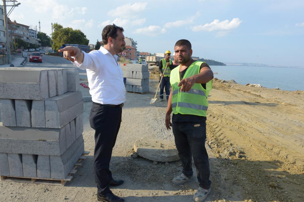 Barbaros liman yolu yenileniyor