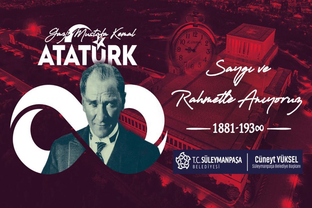 """Yüksel: """"Atatürk'ün aziz hatırasını minnet ve şükranla yad ediyoruz"""""""
