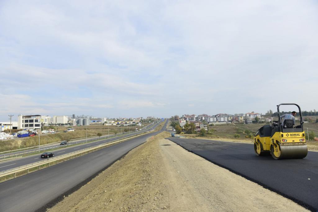 Çevreyolu yan yol Salı günü trafiğe açılıyor