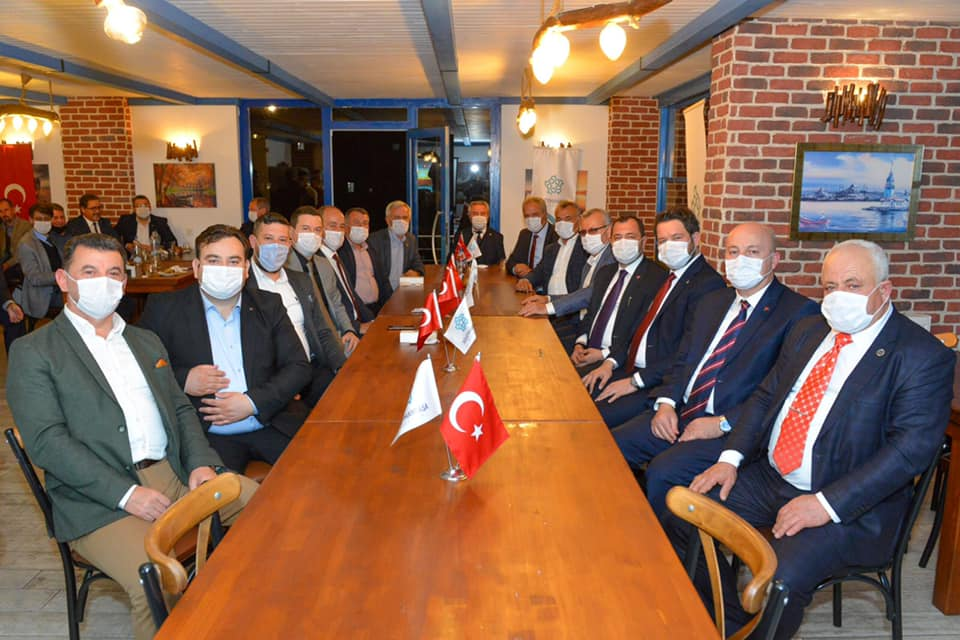 Başkan Yüksel komşu belediye başkanlarını ağırladı