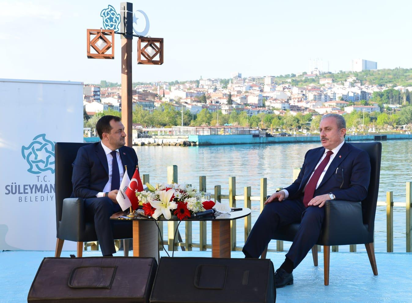 Meclis Başkanı Şentop canlı yayında Başkan Yüksel'in konuğu oldu