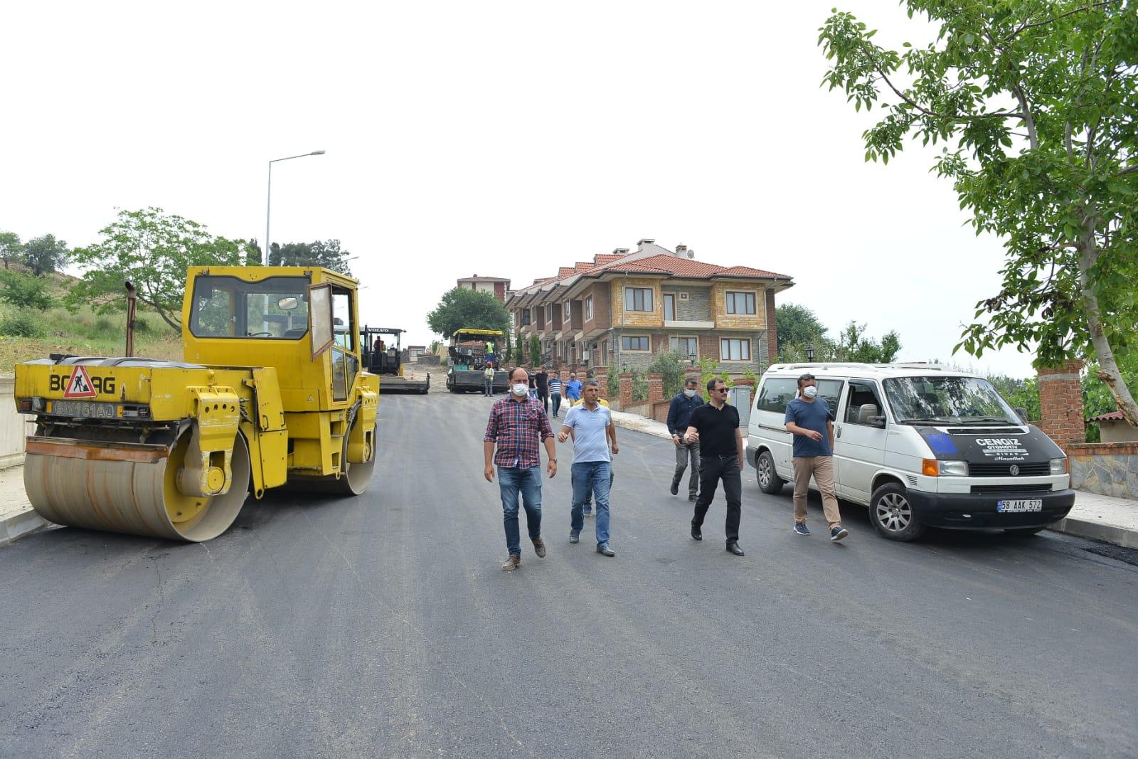 Süleymanpaşa'da asfalt sezonu devam ediyor