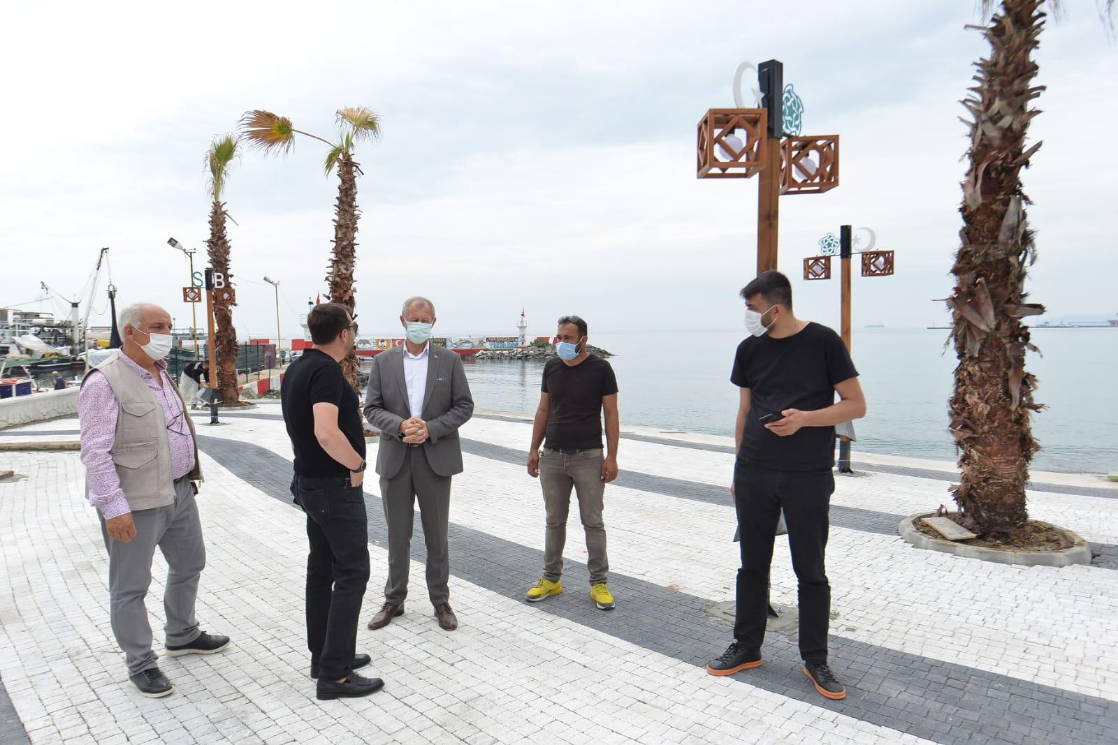 Sahile Süleymanpaşa Belediyesi dokunuşu